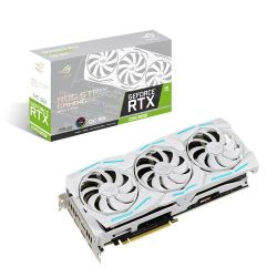 Asus STRIX RTX2080 SUPER OC, 8GB DDR6, 2 HDMI, 2 DP, USB-C, 1890MHz Clock, NVlink, RGB Lighting, Overclocked, White Edition