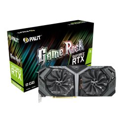 Palit RTX2080 SUPER GameRock, 8GB DDR6, HDMI, 3 DP, USB-C, 1815MHz Clock, NVLink, 0-dB Tech, RGB Lighting
