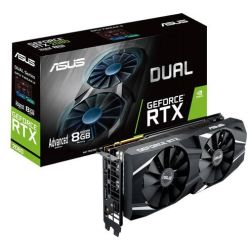 Asus RTX2080 DUAL Advanced, 8GB DDR6, HDMI, 3 DP, USB-C, 1755MHz Clock, NVlink