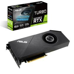 Asus TURBO RTX2080 EVO, 8GB DDR6, HDMI, 3 DP, 1740MHz Clock, Blower-style, NVlink
