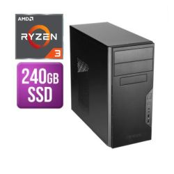 Spire Tower PC, Antec VSK3000B, Ryzen 3 3200G, 8GB, 240GB SSD, Antec 500W, DVDRW, KB & Mouse, No Operating System