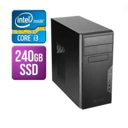 Spire Tower PC, Antec VSK3000B, i3-8100, 8GB, 240GB SSD, Corsair 450W, DVDRW, KB & Mouse, No Operating System