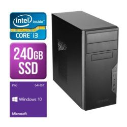 Spire Tower PC, Antec VSK3000B, i3-8100, 8GB, 240GB SSD, Antec 500W, DVDRW, KB & Mouse, Windows 10 Pro