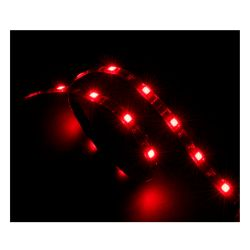 Akasa Vegas Red LED Light Strip, 60cm, 15 LEDs, Molex 4 Pin, Adhesive Backing