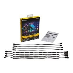 Corsair RGB LED Lighting PRO Expansion Kit, 4 x Individually Addressable RGB LED Strips + Extension Cables