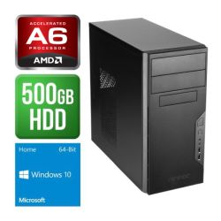 Spire PC, Antec VSK3000B, AMD A6 FM2 X2 7400, 4GB, 500GB, Wireless, KB & Mouse, Windows 10 Home