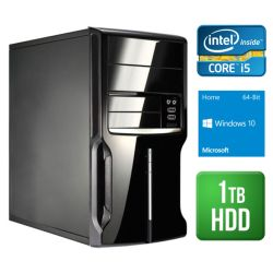 Spire PC, Micro ATX, I5-4460, 4GB, 1TB, KB & Mouse, Card Reader, Wireless, Windows 10 Home 64-bit