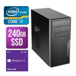 Spire PC, Antec VSK3000B, i7-7700, 8GB DDR4, 240GB SSD, KB & Mouse, Windows 10 Pro