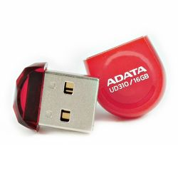 ADATA 16GB USB 2.0 UD310 Dashdrive Durable Memory Pen, Micro, Rugged, Red