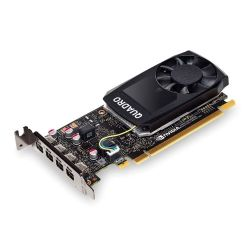 PNY Quadro P1000 Professional Graphics Card, 4GB DDR5, 4 miniDP 1.2 1 x DVI & 4 x DP adapters, Low Profile Bracket Included