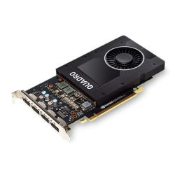 PNY Quadro P2000 Professional Graphics Card, 5GB DDR5, 4 DP 1.4 (4 x DVI adapters)