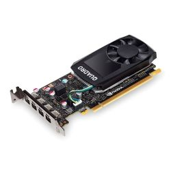PNY Quadro P600 Professional Graphics Card, 2GB DDR5, 4 miniDP 1.4 1 x DVI & 4 x DP adapters, Low Profile Bracket Included