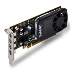 PNY Quadro P620 Professional Graphics Card, 2GB DDR5, 4 miniDP 1.4 4 x DVI adapters, Low Profile Bracket Included