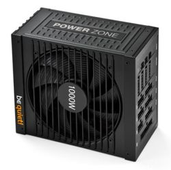 Be Quiet! 1000W PSU - BN213 Power Zone, Modular, Fluid Dynamic Bearing Fan, 80+ Bronze, SLIXFire, Cont. Power