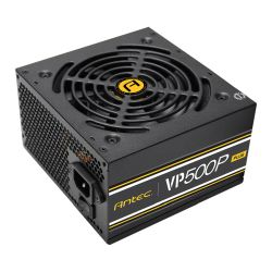 Antec 500W VP500P Plus PSU, Sleeve Bearing Fan, Single 12V Rail, Fully Wired, 80+ White