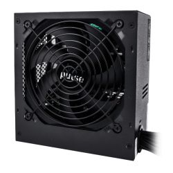 Pulse Power Plus 500W PSU, ATX 12V, 80PLUS & ErP, Active PFC, 4 x SATA, PCIe, 120mm Silent Fan, Black Casing