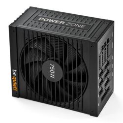 Be Quiet! 750W Power Zone PSU, Fully Modular, Fluid Dynamic Fan, 80+ Bronze, SLIXFire, Cont. Power
