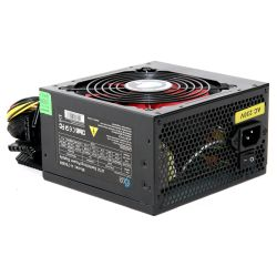 Ace 750W PSU, ATX 12V, Active PFC, 4 x SATA, PCIe, 120mm Silent Red Fan, Black Casing