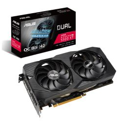 Asus DUAL RX5500 XT EVO OC, 8GB DDR6, PCIe4, HDMI, 3 DP, 1865MHz Clock, 0dB Tech, Overclocked