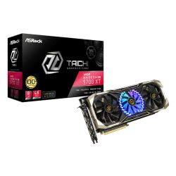 Asrock RX5700 XT 8G TAICHI X 8G OC+, 8GB DDR6, PCIe4, 2 HDMI, 4 DP, 2025MHz Clock, 0dB Tech, RGB Lighting, Overclocked