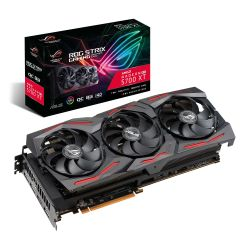 Asus ROG STRIX RX5700 XT OC, 8GB DDR6, PCIe4, HDMI, 3 DP, 2035MHz Clock, 0dB Tech, RGB Lighting, Overclocked