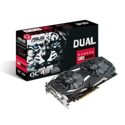 Asus Radeon RX580 DUAL OC, 4GB DDR5, DVI, 2 HDMI, 2 DP, 1380MHz Clock, 0dB Tech, CrossFire, Overclocked