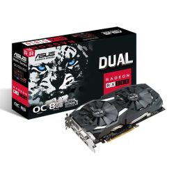 Asus Radeon RX580 DUAL OC, 8GB DDR5, DVI, 2 HDMI, 2 DP, 1380MHz Clock, 0dB Tech, CrossFire