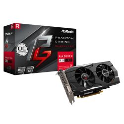 Asrock Phantom Gaming D Radeon RX580 OC, 8GB DDR5, PCIe3, DVI, HDMI, 3 DP, 1424MHz Clock, CrossFire, Overclocked