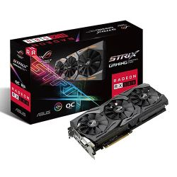 Asus Radeon ROG STRIX RX580 OC, 8GB GDDR5, DVI, 2 HDMI, 2 DP, 1380MHz Clock, RGB Lighting, Crossfire