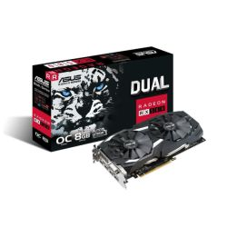 Asus AREZ Dual Series RX580 OC, 8GB GDDR5, DVI, 2 HDMI, 2 DP, 1380MHz Clock, Crossfire