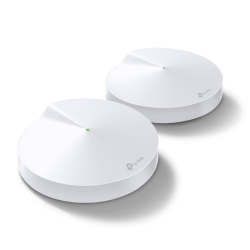 TP-LINK (DECO M5) Whole-Home Mesh Wi-Fi System, 2 Pack, Dual Band AC1300, MU-MIMO, USB Type-C, 2 x LAN on each Unit