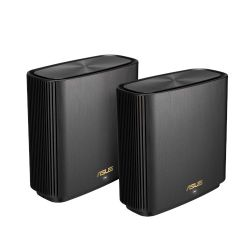 Asus (ZenWiFi AX XT8) 6600Mbps Wireless Tri-Band Cable Routers, 2 Pack, USB 3.1 Gen1, AiMesh Tech