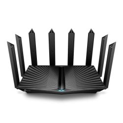 TP-LINK (Archer AX90) AX6600 (4804+1201+574) Wireless Tri-Band Gigabit Router, 5-Port (1x 2.5Gbp), OFDMA & MU-MIMO, USB