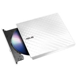Asus SDRW-08D2S-U LITE External Slimline DVD Re-Writer, USB, 8x, White, Cyberlink Power2Go  8