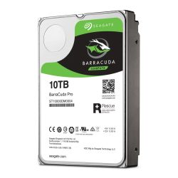 "Seagate 3.5"", 10TB, SATA3, BarraCuda Pro Hard Drive, 7200RPM, 128MB Cache, 2 Yr Data Recovery Service"