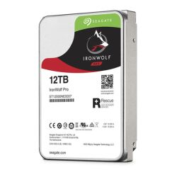 Seagate 3.5, 12TB, SATA3, IronWolf Pro NAS Hard Drive, 7200RPM, 256MB Cache, 2 Yr Data Recovery Service