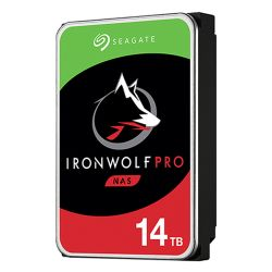 "Seagate 3.5"", 14TB, SATA3, IronWolf Pro NAS Hard Drive, 7200RPM, 256MB Cache, 2 Yr Data Recovery Service, OEM"