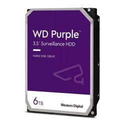 """WD 3.5"""", 6TB, SATA3, Purple Surveillance Hard Drive, 5640RPM, 128MB Cache, OEM"""