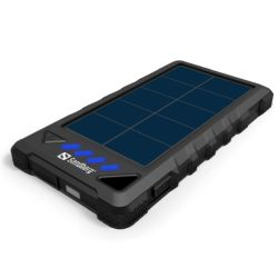 Sandberg Outdoor Solar Powerbank, 8000mAh, USB & Solar Charging, Flashlight, Rainproof, 4 LED, 5 Year Warranty