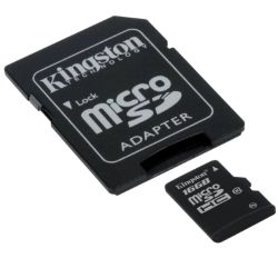 Kingston 16GB High Capacity Micro SD Card with SD Adapter, Class 10