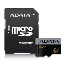 ADATA 64GB Premier Pro Micro SDXC/SDHC Card, UHS-I U3 Class 10