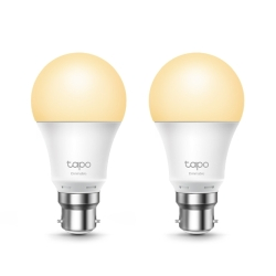 TP-LINK L510B 2-Pack Wi-Fi LED Smart Light Bulb, Dimmable, Schedule, AppVoice Control, Bayonet Fitting