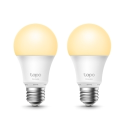 TP-LINK L510E 2-pack Wi-Fi LED Smart Light Bulb, Dimmable, AppVoice Control, Screw Fitting