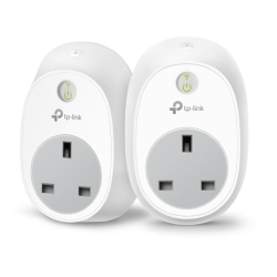 TP-LINK HS100 2-PACK V2.1 Kasa Wi-Fi Smart Plug Kit, Remote Access, Scheduling, Away Mode, Voice Control, Grouping
