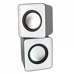 Approx APPSPX1W 2.0 Mini Stereo Speakers, 5W RMS, White, Retail
