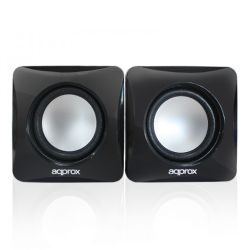 Approx APPSPXLITE 2.0 Stereo Speakers, 6W RMS, Black