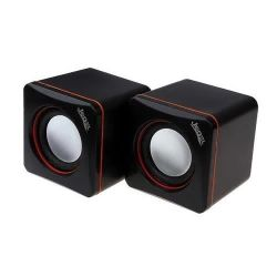 Jedel 2.0 Mini Stereo Speakers, 3W x2, Black