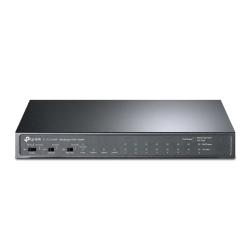 TP-LINK (TL-SL1311MP) 8-Port Unmanaged Desktop PoE+ Switch, 8-Port 10/100Mbps + 2-Port Gigabit RJ45 & 1 Gigabit SFP