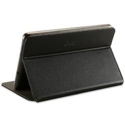 Acer Iconia B1-720 Tablet Case, Faux Leather, Black