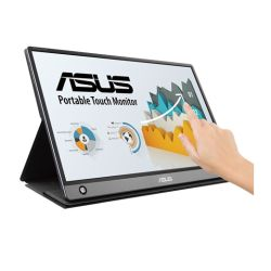 "Asus 15.6"" Portable IPS Touchscreen Monitor (ZenScreen MB16AMT), 1920 x 1080, USB-C/micro-HDMI, 7800mAh Battery, Auto-rotatable, Hybrid Signal, Smart Case Stand"